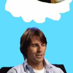 Gif of Tom Cruise thinking of cats sleeping